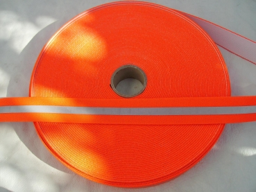 Reflex Band  Meterware - 35 mm Breit - orange